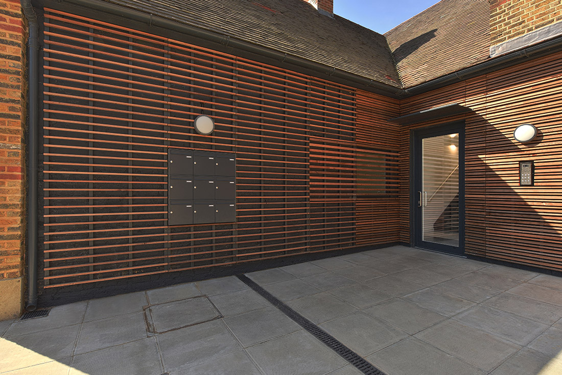 Exterior building photography of a recent architectural project in London.