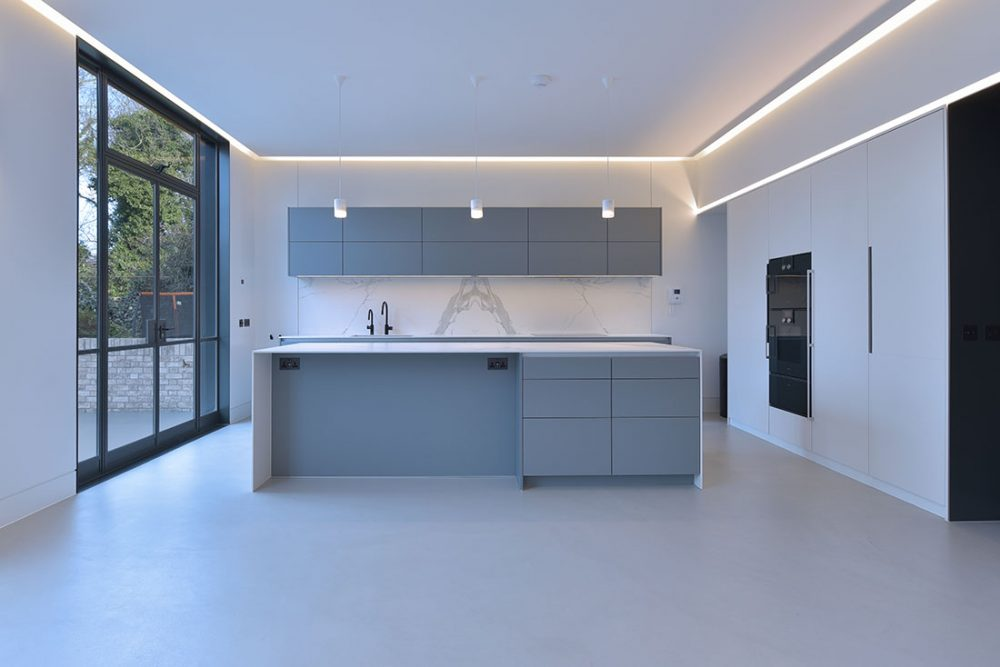 photography of custom built bespoke kitchen