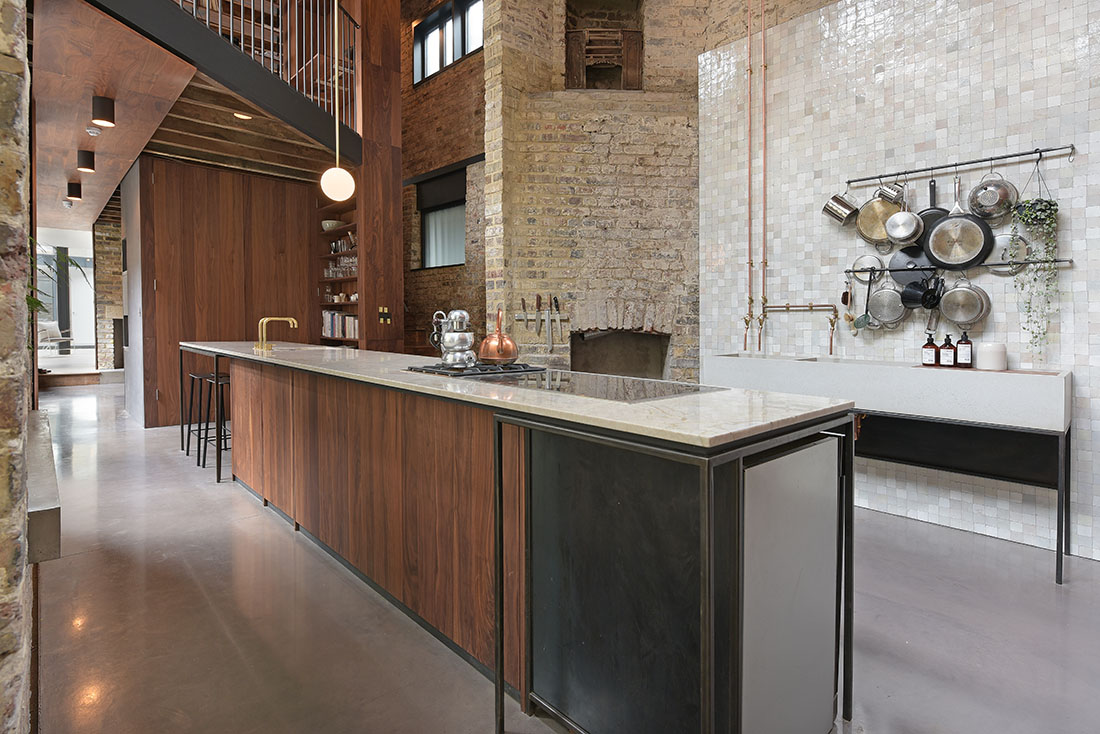 kitchen photography in warehouse conversion