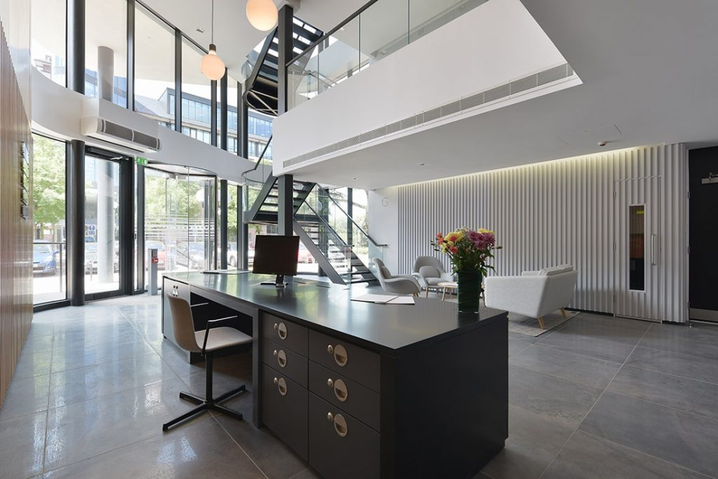 Commercial Property Interior Design Photography of new office in London