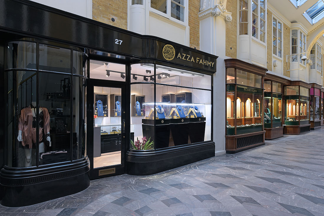 Retail photography for new luxury jewellery store in London.