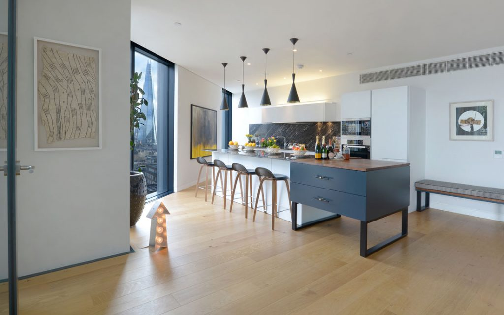 Interior Design Kitchen Photography in Central London apartment