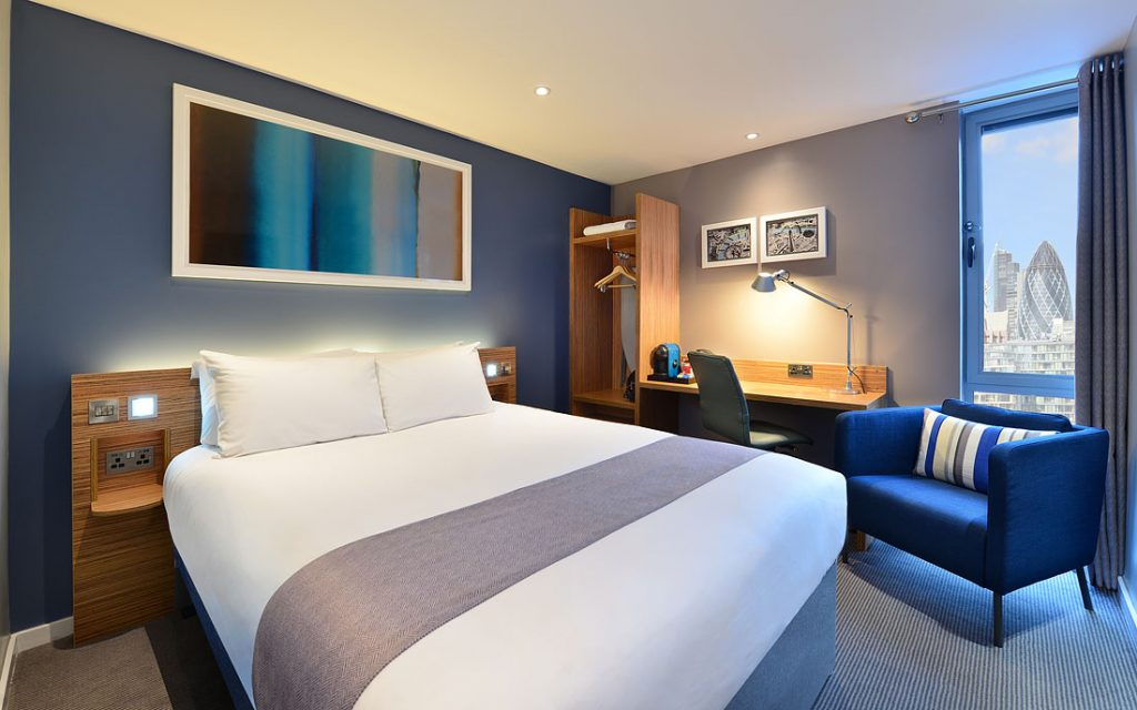 Hotel Interior Photography London UK. Photo of a hotel bedrooms interior design.