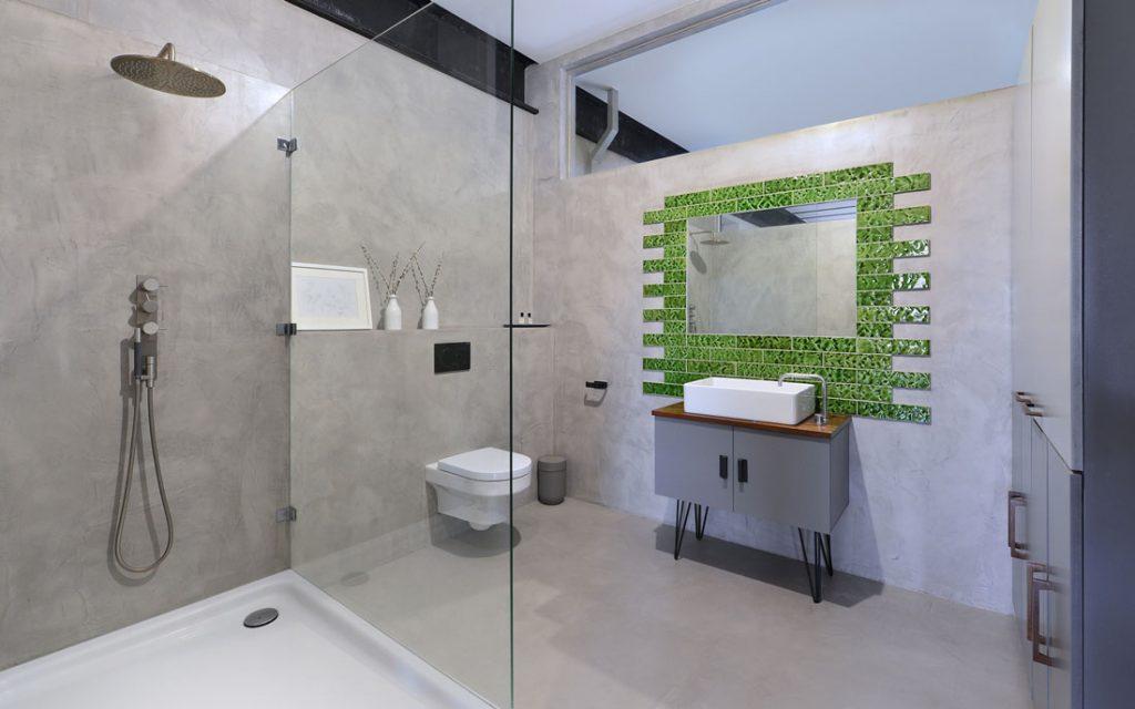 concrete bathroom photography