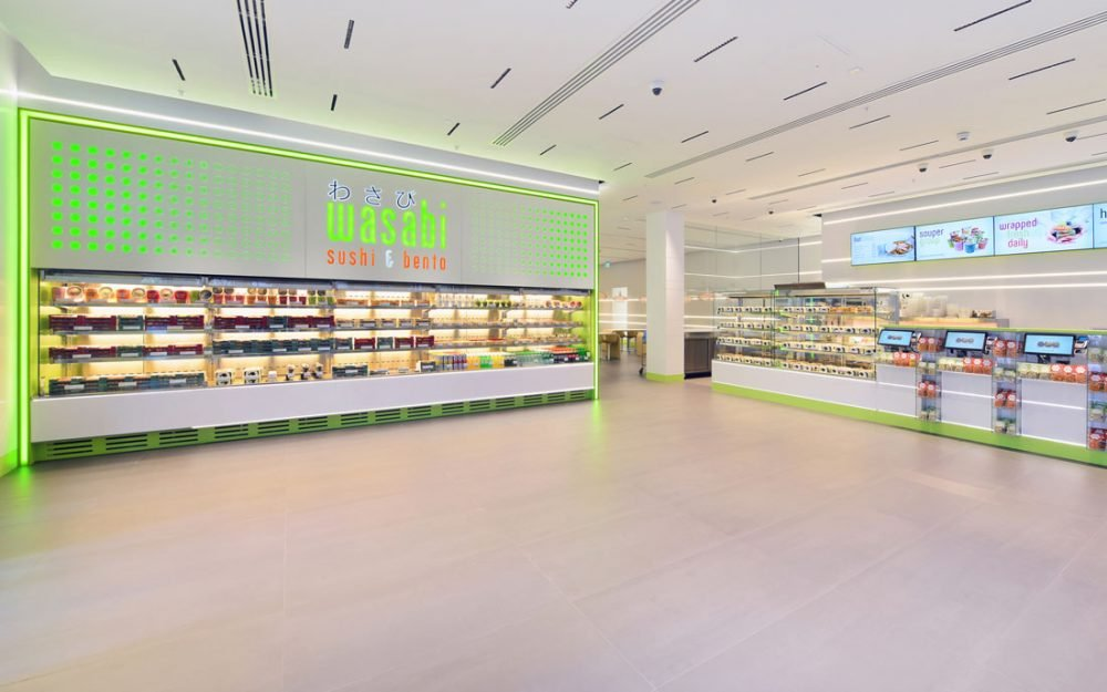Retail Photography for Wasabi who provide convenience food. Restaurant