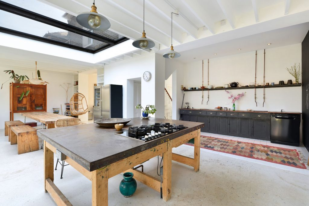 open plan kitchen photography in house extension