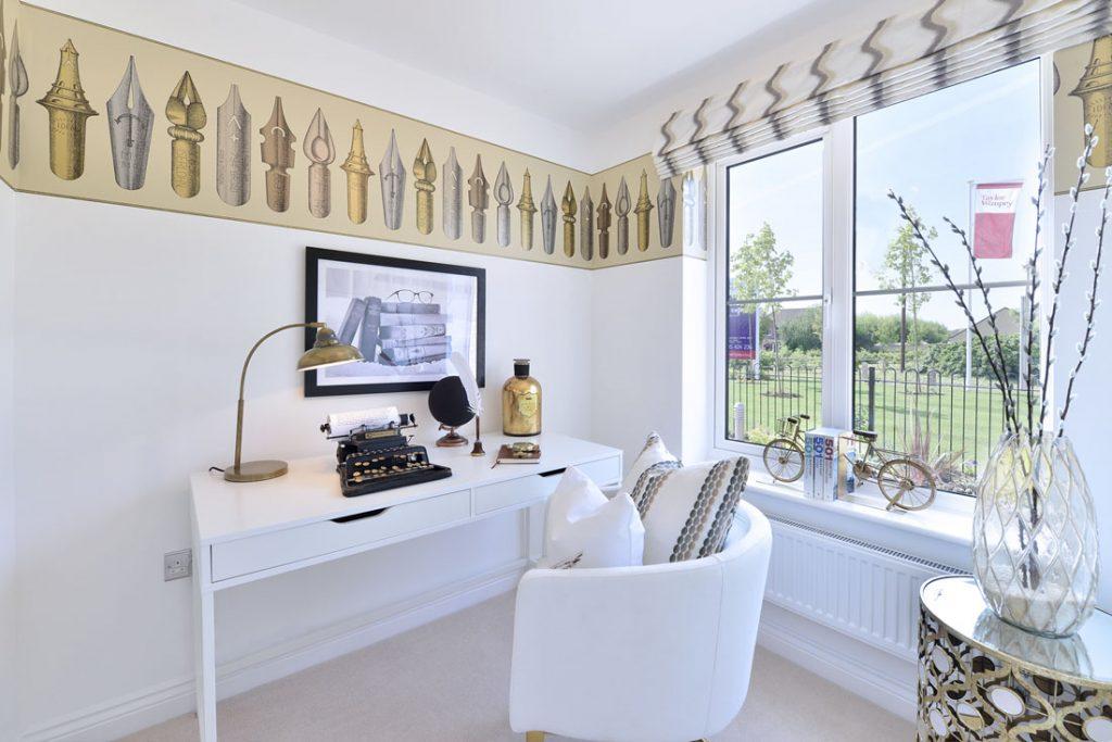 Interior photos of new build show home