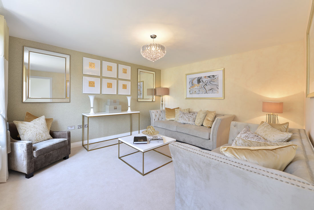Interior photos of new build show home