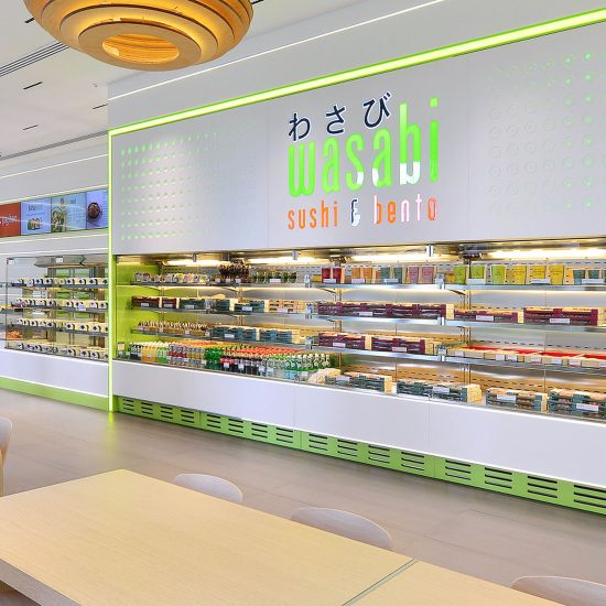 retail interior photo of wasabi store